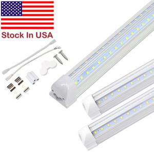 تسوق ضوء أنبوب تبريد الباب LED المتكاملة 4FT 5FT و 6ft 8FT LED T8 72W LED أنبوب الخفيفة V شكل أنابيب الفلورسنت أضواء