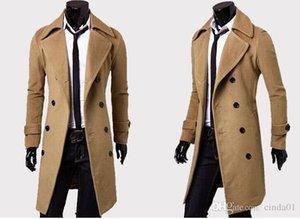 Herren-Designer Bekleidung Trench Coats Kostenloser Versand Winter Fashion Einreiher Kaschmir-Jacke Mäntel Men Overcoat casacos