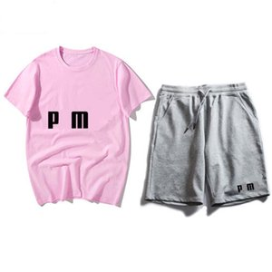 Men's T-shirt, shorts, breathable suit, casual T-shirt, men's women's short sleeve T-shirt + 7 pants, fashion wild suit
