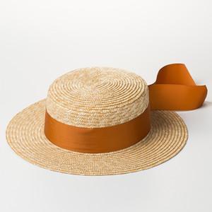 [La MaxPa] Высокое качество Boater Hat 2018 Летние пляжные соломенные шляпы Новая мода Sun Hat для женщин