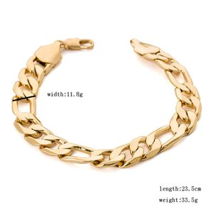 2020 high quality boys 316L stainless Steel 18K gold wedding charm chain bracelets for women men birthday gift jewelry