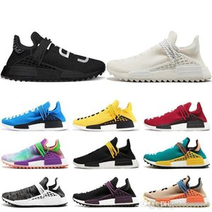 Heißer Verkauf Human Race Designerschuhe Pharrell Williams Human Race Sportschuhe Gelb Schwarz Weiß Rot Grün Grau Blau Sneaker [Ohne Box]