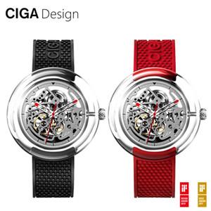 Xiaomi Youpin CIGA Design Relógio T Series Mecânica oco transparente Assista Feminino Masculino de relógio mecânico