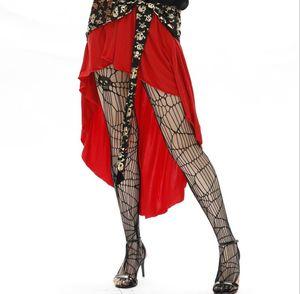 Womens Halloween Spider Calze a rete Donna sexy travestimento uniforme accessori della biancheria delle donne Giarrettiera Cosplay Slim biancheria intima