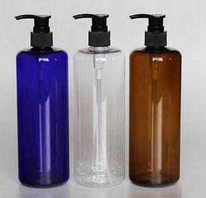 Vacío 500 ml PET Botella líquida plástica cosmética champú envasado de botellas de PET botella de plástico de la bomba de champú Botella KKA7922