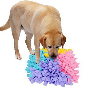 Perro snuffle Mat tejida mano perro el oler Soft Pad mascotas Olor Nariz Trabajo snuffle Formación Mat feeding forraje Manta Habilidad