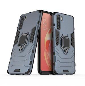 Pour OPPO A91 Case Bague luxe coloré mince autocollant en plastique dur de couverture de cas TPU pour OPPO A91