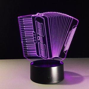 Светодиодный прибор Аккордеон 3D USB лампы Romantic 7 цветов Изменение настроения Атмосфера Таблица украшения Night Light Gift JK0103
