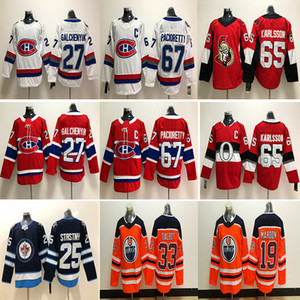 Maglia Montréal Canadiens Ottawa Senators Edmonton Oilers 67 Max Pacioretty 65 Shaw 65 Erik Karlsson Maglie hockey su ghiaccio