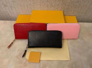 titular de la tarjeta de crédito diseñador de moda de alta calidad bolsa de cuero clásica notas y recibos doblado bolso del monedero caja de distribución de la cartera del monedero