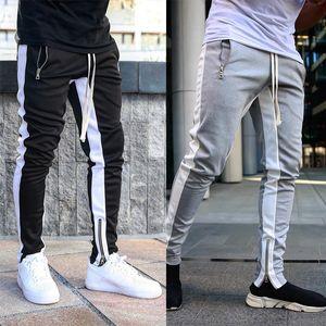 2019 Fashion Streetjogginghose Joggers Causal Sportswear Hosen Herren Schwarz Weiß Männer Hip Hop Jogginghose Hose für Männer
