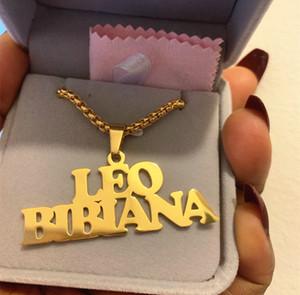 Gothic Schmuck Custom Name Halskette Edelstahl Anhänger Gold Lange Perle Kette Personalisierte Typenschild Halsketten Frauen Männer Geschenk