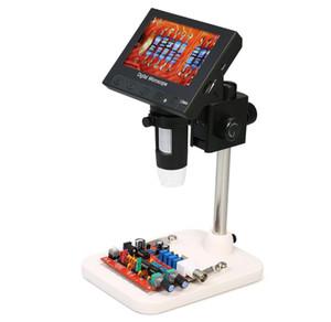 """1000X 4.3 """"loupe numérique pour microscope portable à affichage LCD 720P LCD avec support pour outil de soudage de réparation de circuit imprimé"""