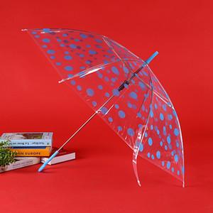 Deux styles beau modèle points transparent à long manche Parapluies Hommes Femmes semi-automatique antipluie 8 os parapluies coupe-vent DH0993