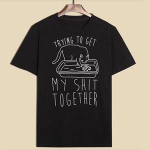 Hillbilly divertente gatto maglietta Abbigliamento Donna stampata allentata di grande misura estivo Top Harajuku Breve maglietta casuale delle donne Brand New Tumblr