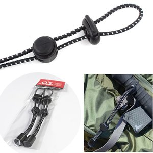 Outdoor Portable Elastic Cord Fastener Hiking Camping Trekking Pole Hanging Clinch Backpack Gadgets Fixing String Buckles With Strength Cord