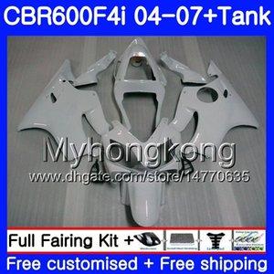 Кузов глянцевый белый горячий для HONDA CBR600 FS CBR 600F4i 2004 2005 2006 2007 281HM.26 CBR600 F4i CBR 600 F4i CBR600F4i 04 05 06 07 обтекатель комплект