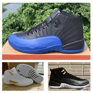New Arrival 12 FIBA 12s Basketball Shoes Game Royal mens Sports Sneakers 12 Reverse Taxi Size 40-47