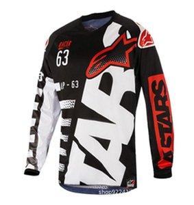 Pequeña estrella motocicleta caliente de descenso de manga larga traje compite con la camiseta del verano y otoño de ciclismo de ocio transpirable superior de la chaqueta y rápido-dryin