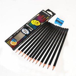 Marco Pencils non toxique angle Six Pencils standard 2H / 2B / Office Professionnel Chancery école Crayon coloré 12pcs