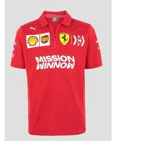 Fórmula 1 Fórmula 1 Polo camisa Puma serviço equipe Ferrari Racing Suit T lapela manga curta de secagem rápida topo