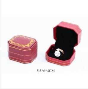 marque mode acier de titane rose bague amant argent bague amour or cadeau d'anniversaire de bijoux de mariage pour les hommes des femmes anneaux avec boîte d'origine