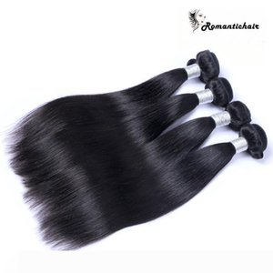 Brazilian Virgin Human Hair Weaves Bundles Unprocessed Brazillian Peruvian Indian Malaysian Cambodian Straight Hair Extensions Natural Black