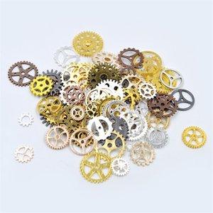 100g Résultats de bijoux de bricolage Vintage Roues d'engrenages Punk Fabrication de bijoux Fournitures Composants Bijoux Bracelet Accessoires Connecteurs