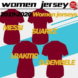2019 Frauen Trikots # 10 MESSI # 17 Griezmann Hauptfußballjerseys 19/20 weiblich weg # 9 SUAREZ # 4 RAKITIC Fußball-Uniform dritte Reduziert