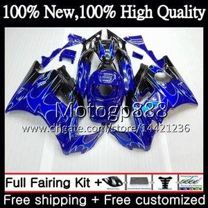 HONDA CBR 600F2 FS için gövde Mavi alevler CBR600 F2 91 92 93 94 46PG6 CBR600FS 91 CBR 600 F2 CBR600F2 1991 1992 1993 1994 Fairing Karoser