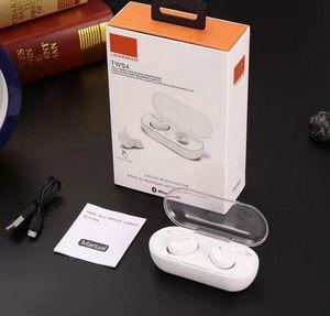 TWS4 TWS Wireless Headset Bluetooth 5.0 Headphones Sports fone de ouvido fone de ouvido vs f9 botões + para a nota Samsung s10 20 universal