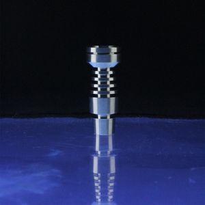 Her iki 14 mm ve 19 mm eklemlerde Titanyum Nail için DabWorthy Evrensel Kubbesiz 6 Delik Bulaşık Erkek Grade 2 Titanyum Tırnak İşleri