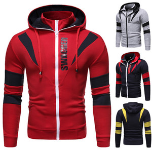 Double Zipper Mens Designer Hoodies Printemps Cardigan À Manches Longues À Capuche Hommes Sweat-Shirts Décontractés Plus La Taille Vêtements Pour Hommes