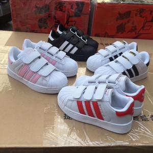 2020 bambini nuovi di marca Shell testa ragazzo ragazze Sneakers Superstar Scarpe per bambini nuovi pattini stan moda Smith sneakers sport in pelle scarpe da corsa