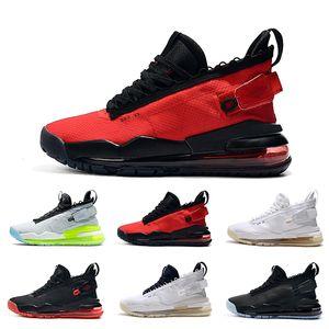 Горячие ботинки Mens Basketball Pure Platinum Black Бред Gym Красный Неон Gradient Pale Ivory White Black Men Тренажёры Спорт Кроссовки