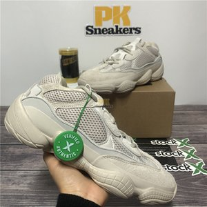 Top Quality Desert Rat 500 soft vision stone kanye west running shoes bone utility black salt 3M reflective super moon men womem sneaker