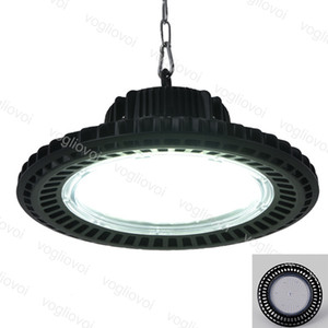 LED High Bay Lights UFO 50W 100W 150W 200W Etanche IP65 Aluminium 6500K 90 ° Couverture pour l'entrepôt industriel Warehouse Workshop Garage DHL