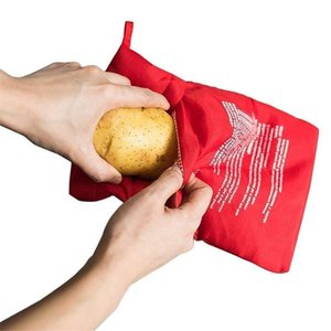 Red Potato Bag Microwave Baking Potato Cooking Bag Washable Cooker Bag Baked Potatoes Rice Pocket Easy To Cook Kitchen Gadgets