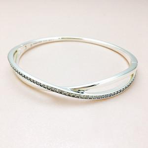 Fashion CZ Diamond Bracelet for Pandora 925 sterling silver jewelry with original box high quality ladies wild temperament bracelet holiday