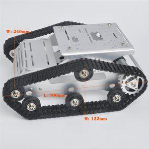 DOIT YP100 Silver Robot Car Chassis Smart Tank Platform Metal Stainless Steel 2DW Motor 9V for Arduino   Raspberry Pi DIY