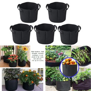 5PCS Grow Bags Breathable Non-woven Fabric Flower Pots Potato Tomato Strawberry Vegetable Fruit Garden Greenhouse Planter Bags