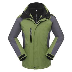 Зимняя лыжная куртка на открытом воздухе мужчины спортивные куртки 3 в 1 ветрозащитная куртка согреться ветровка флис внутри водонепроницаемые куртки