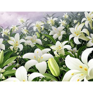 5D DIY Diamond Painting Lily Flowers Full Diamond Embroidery Mosaic Picture of Rhinestones Home Decor Handmade Gifts
