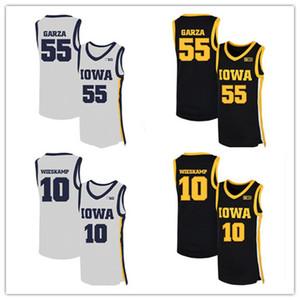 2020 NCAA Iowa Hawkeyes Jerseys 55 Luka Garza 10 Joe Wieskamp College Basketball Jerseys Custom Luka Garza Jerseys Noir Blanc S-3XL