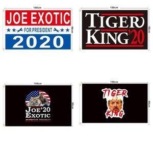 Joe Drapeau Exotique 90 * 150cm 14 Styles Printed Joe Tiger président américain Élection Bannière Drapeaux LJJO7927