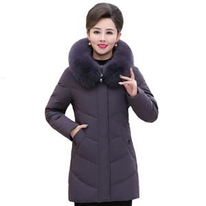 Real Fur Collar Winter Women Down Coats Warm Woman Hooded Down Parka Plus Size 5XL High Quality Winter Jacket Women Outwear