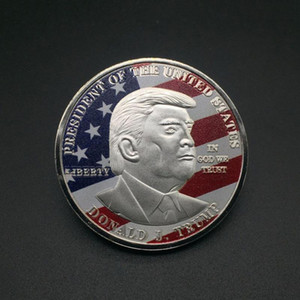 Donald Trump Gold Coin Commemorative Coin Make America Great Again Coin 45th 2020 President Election Metal Badge Craft Supply C006 VT0635
