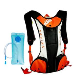 Vendas quentes para KTM mochila motocicleta diariamente viajar ao ar livre multifunções esporte com um saco de água 2L TPU