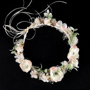 Moda Hearwear copricapo Donna Bianca Fiori diademi e Corona corona di fiori della fascia delle donne Garland Wedding Accessori per capelli
