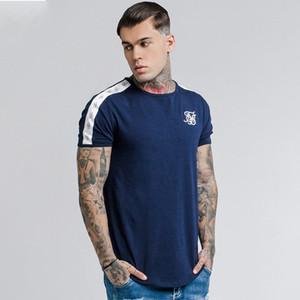 Camiseta de los hombres de seda de seda Casual Male camisetas de Siksilk Hip Hop camiseta para hombre de Calle Ropa de la marca T-Tops Sik Hombres camiseta